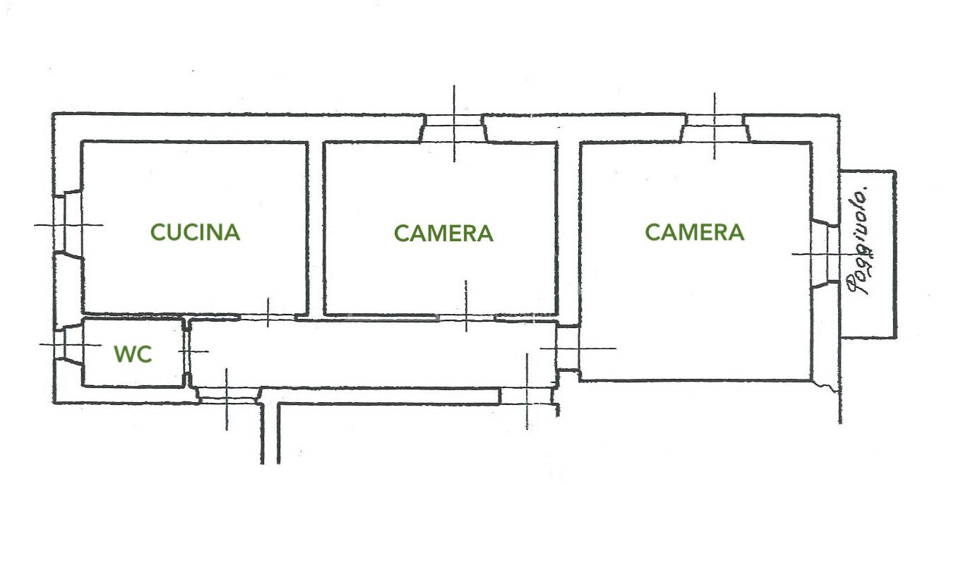Centro storico – trilocale con balcone a due passi dalla zona pedonale