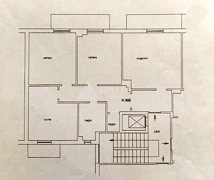 Mazzetta – Ampio 4 vani con tre balconi